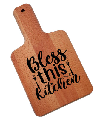 Ink Trendz Bless This Kitchen Decorative Charcuterie Cheese Cutting Board