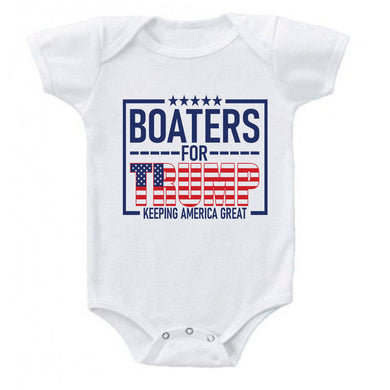 Ink Trendz® Boaters For Trump 45 Keep America Great Onesie® Babies for trump