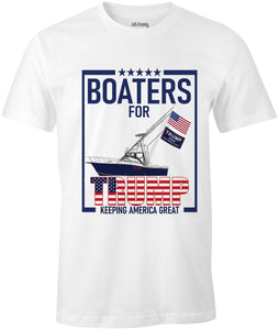 Ink Trendz® Boaters For Trump Keep America Great Sport fishing Parade T-Shirt  Boat Parade Apparel