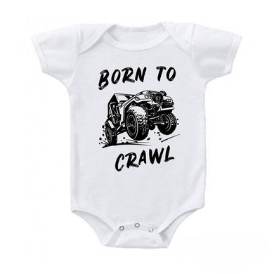 Born to Crawl 4x4 Off Road Jeep Baby Bodysuit