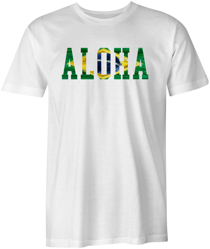 Aloha Brazil Brasil Surf Cotton T-shirt