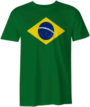 Load image into Gallery viewer, Brazil National Flag Bandeira do Brasil, Brazilian Green Unisex  T-shirt