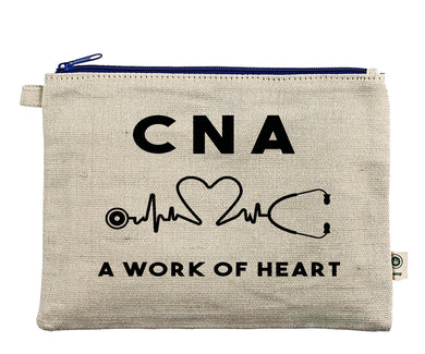 Ink Trendz® CNA Nursing Assistant Novelty Gift EKG Zipper Hemp Pouch Bag