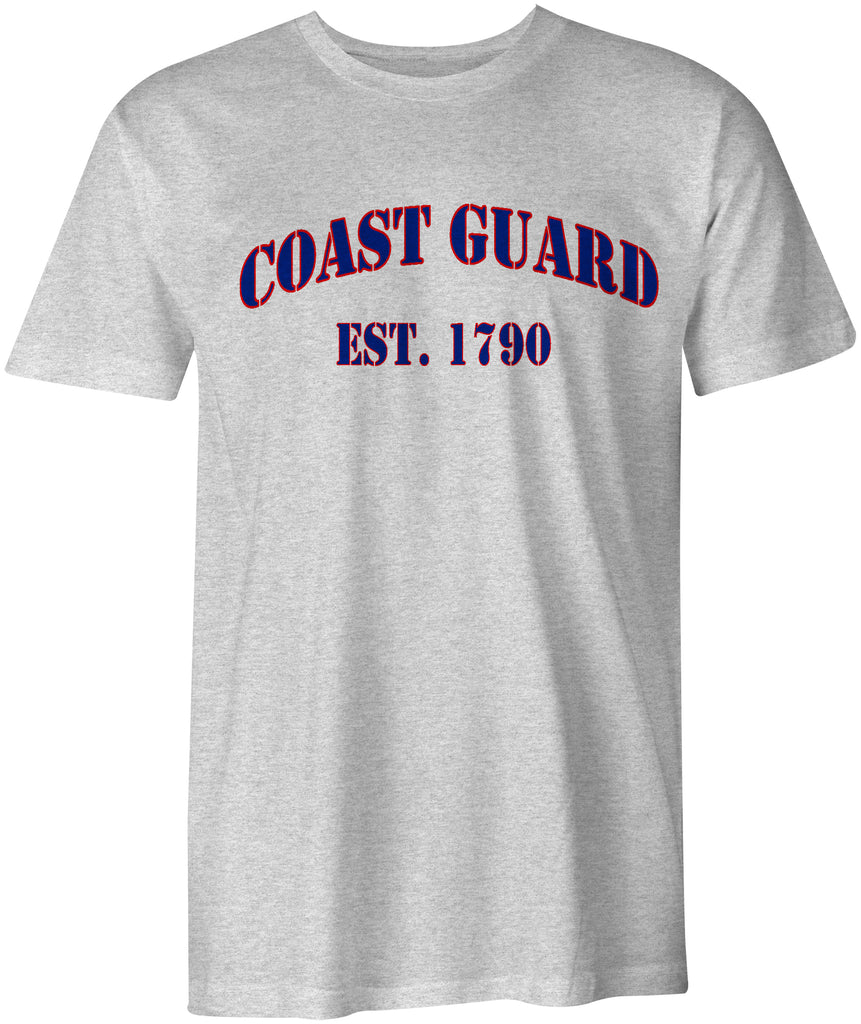 USCG United States Coast Guard est. 1790 Cotton T-Shirt