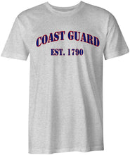 Load image into Gallery viewer, USCG United States Coast Guard est. 1790 Cotton T-Shirt