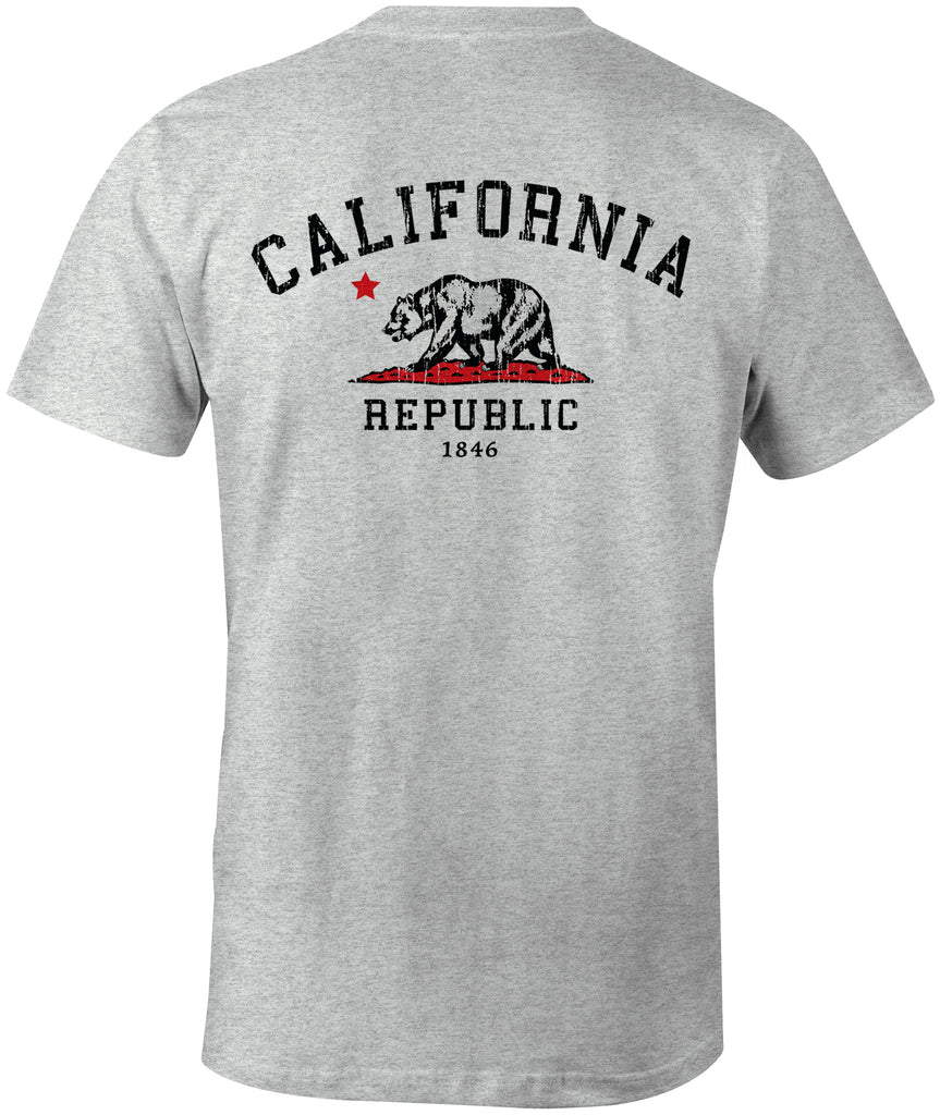 California Republic Grunge Premium Cotton T-shirt