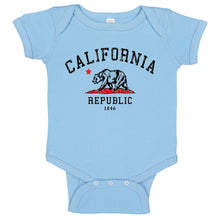 Load image into Gallery viewer, Vintage California Republic Grunge Bear Baby Bodysuit