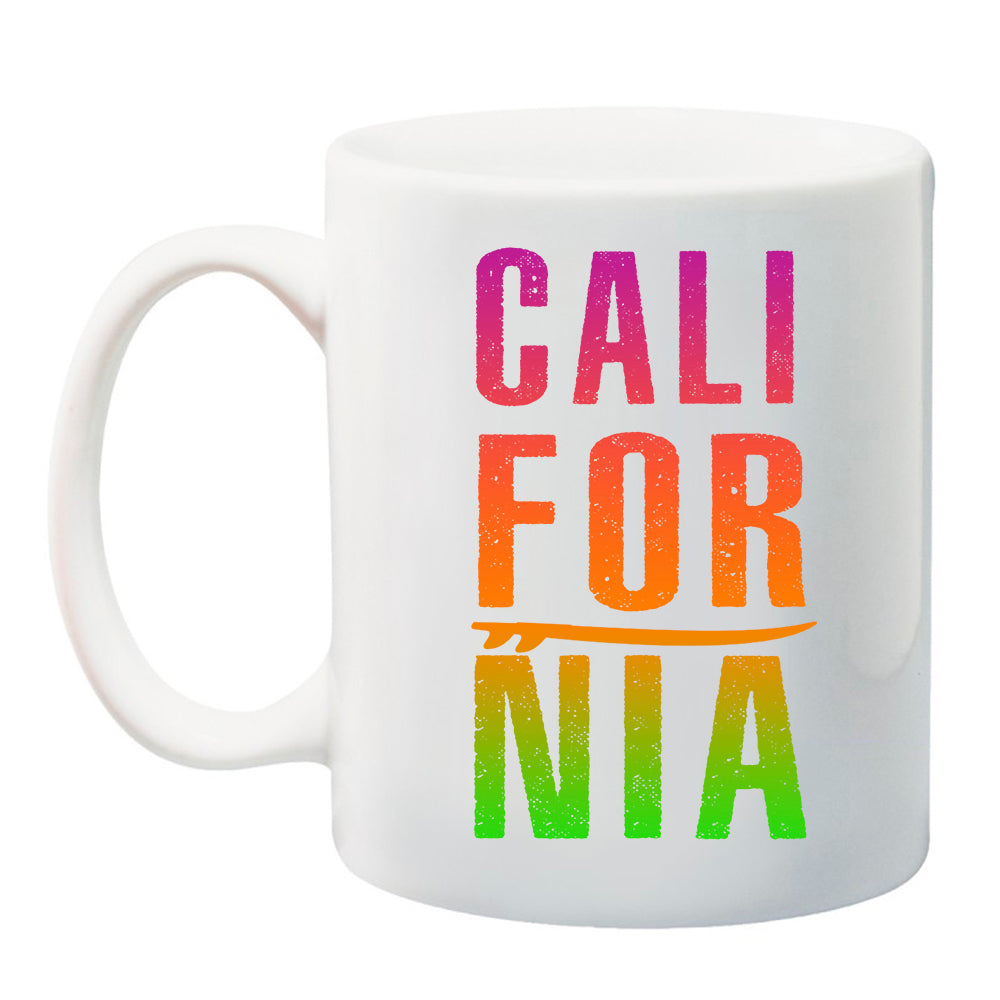 Ink Trendz® CALIFORNIA Tropical Surf 11 oz. Ceramic Coffee Mug