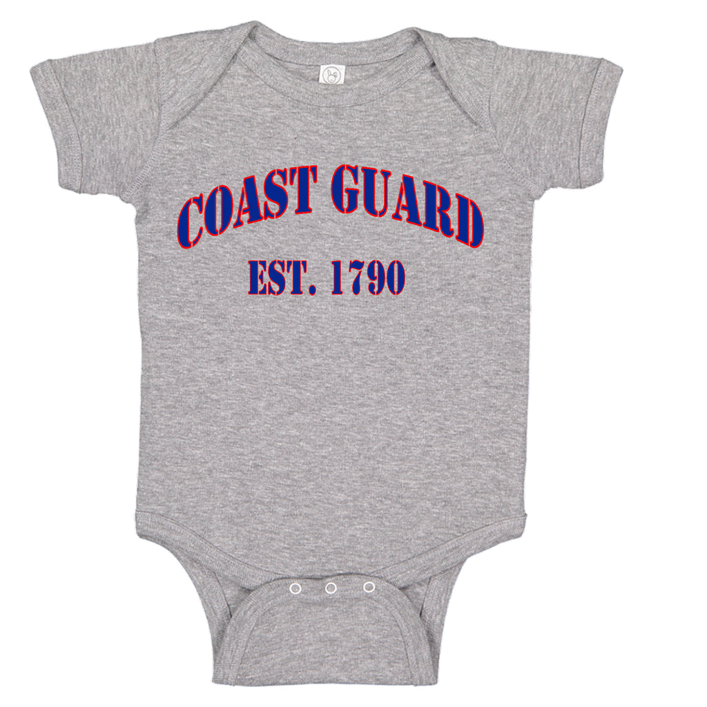 USCG United States Coast Guard Est. 1790 Baby Girl Bodysuit