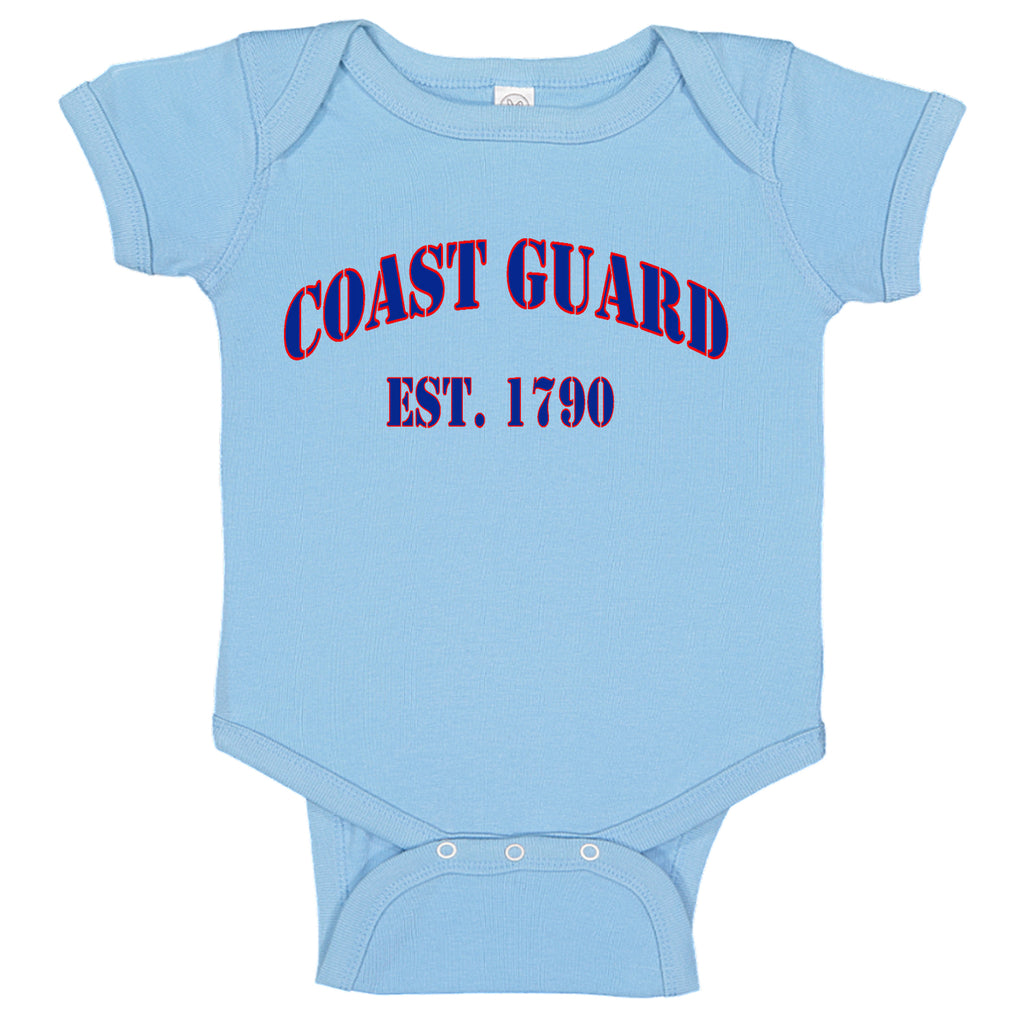 USCG United States Coast Guard Est. 1790 Baby Bodysuit