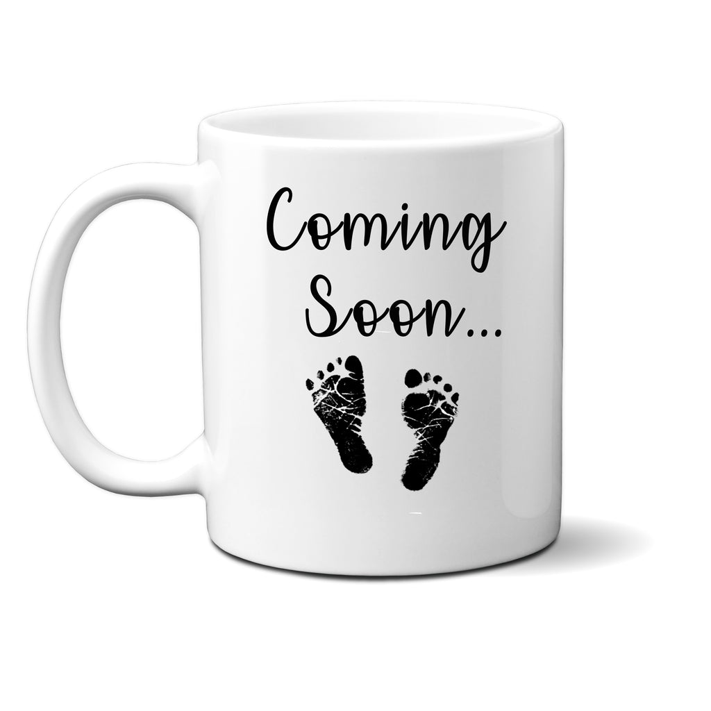 Ink Trendz®  Coming Soon Baby Feet Pregnancy Announcement 11 oz. Ceramic Coffee Mug