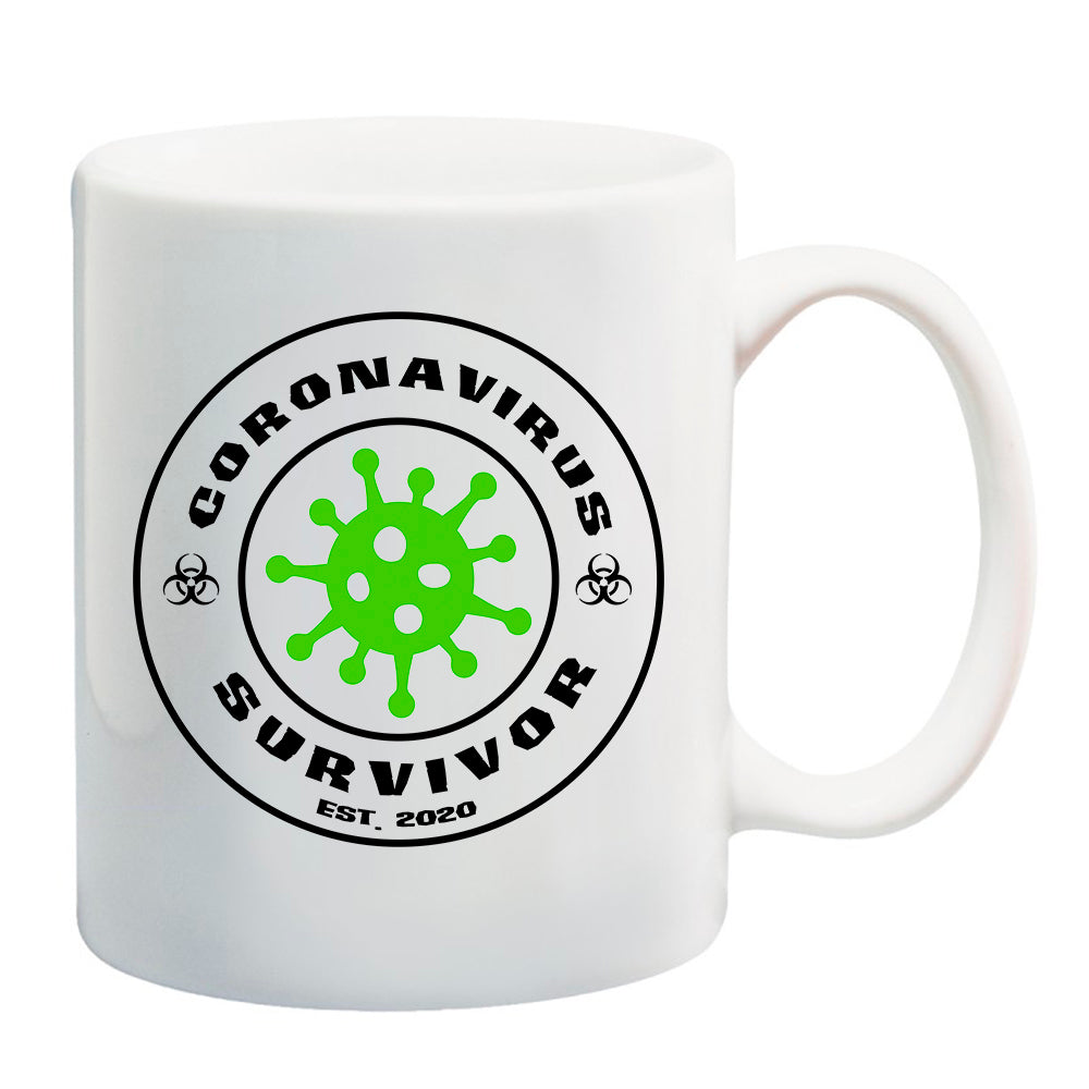 Ink Trendz® Coronavirus Survivor est. 2020 COVID-19  11 oz. Ceramic Coffee Mug
