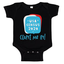 Load image into Gallery viewer, Ink Trendz® Count Me In! 2020 USA Funny Census Baby Bodysuit