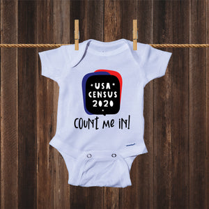 Ink Trendz® Count Me In! 2020 USA Funny Census Baby Bodysuit