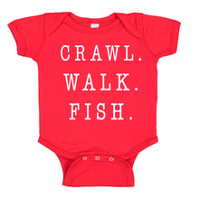 Load image into Gallery viewer, Crawl Walk Fish Baby Bodysuit