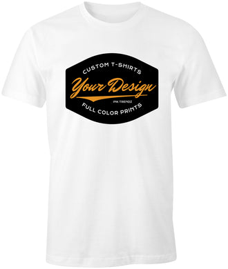 Ink Trendz® 12 Custom Full Color 1 Spot Full Color Print on a White Gildan T-Shirt