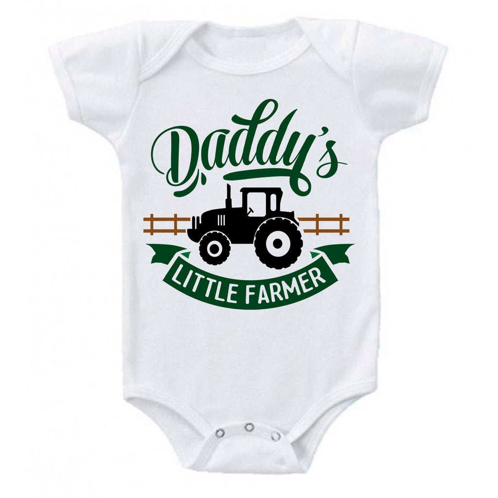 Ink Trendz® Daddy's Little Farmer Tractor Infant Onesie® Bodysuit