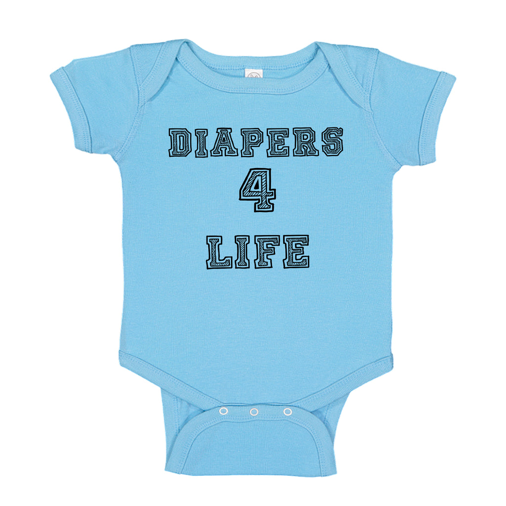 Ink Trendz® Diapers 4 Life Cute & Funny Baby One-piece Bodysuit