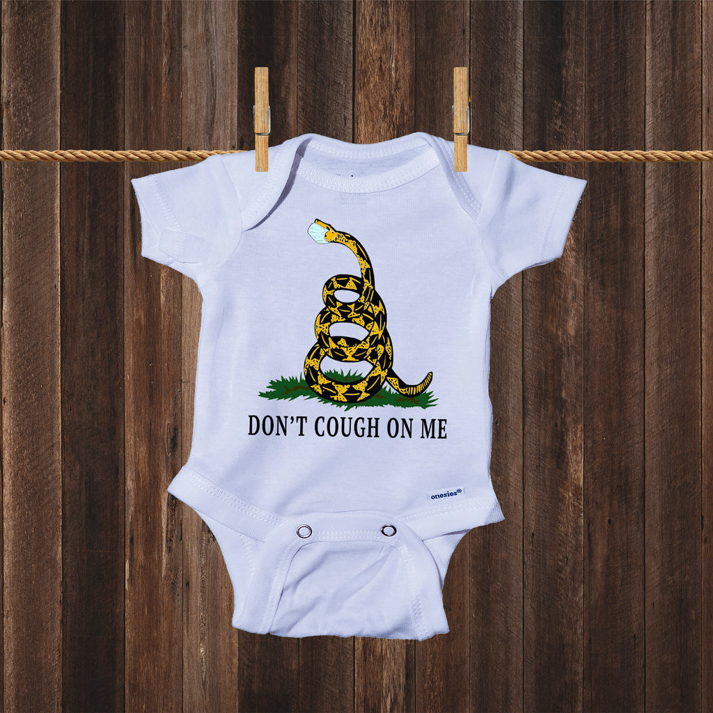 Ink Trendz® Don't Cough On Me Gadsden Serpent COVID-19 Baby Onesie®