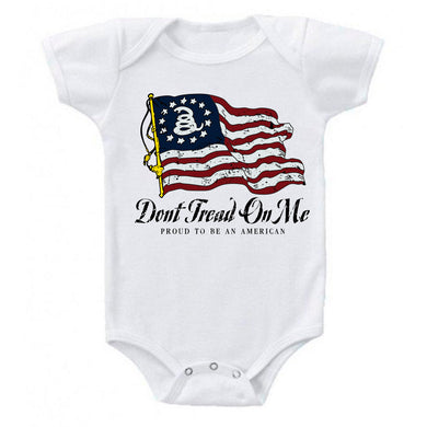Ink Trendz® Betsy Ross Patriotic Gadsden Don't Tread On Me Smash-up Infant Baby Bodysuit