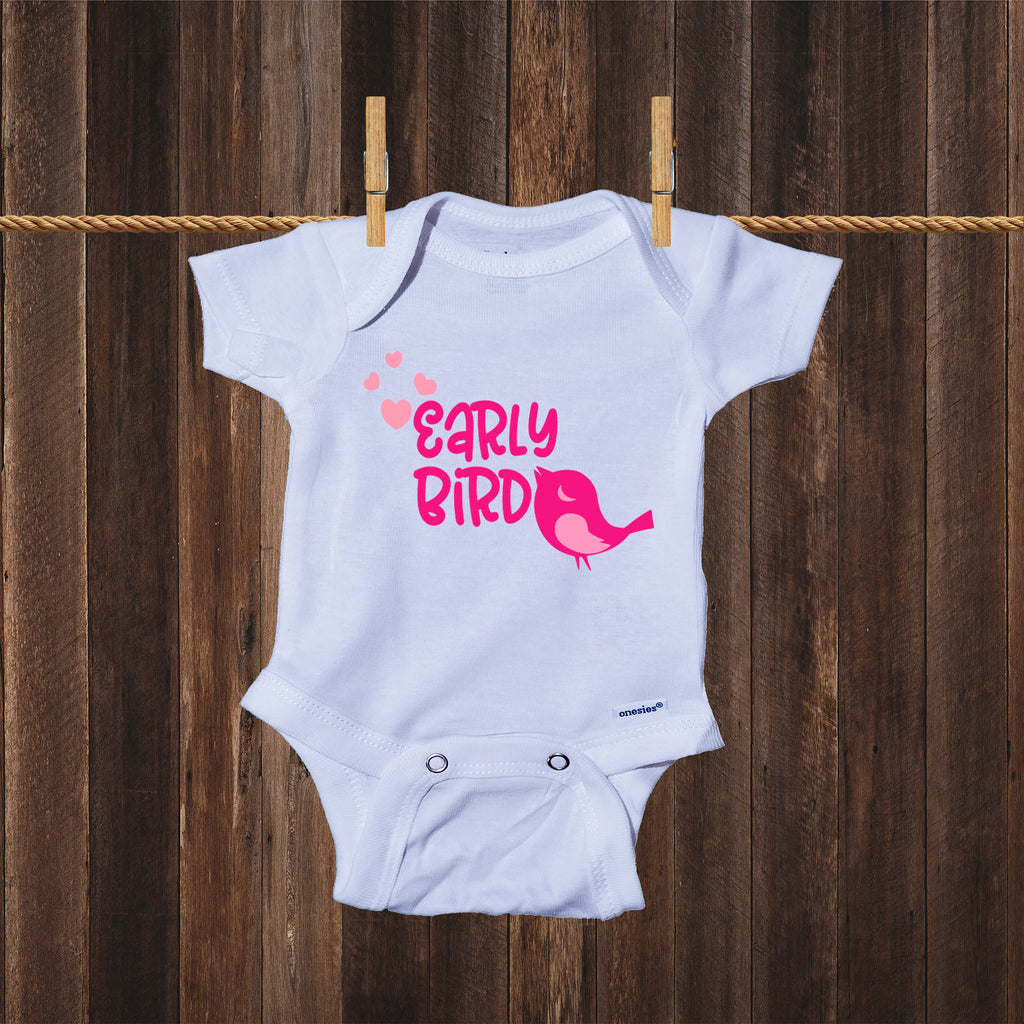 Early Bird Baby Girl- Miracle Baby- NICU Baby Onesie® One-Piece Bodysuit- Ink Trendz