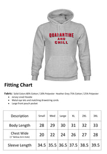 Ink Trendz® Quarantine and Chill Coronavirus COVID-19 Hoodie Sweatshirt