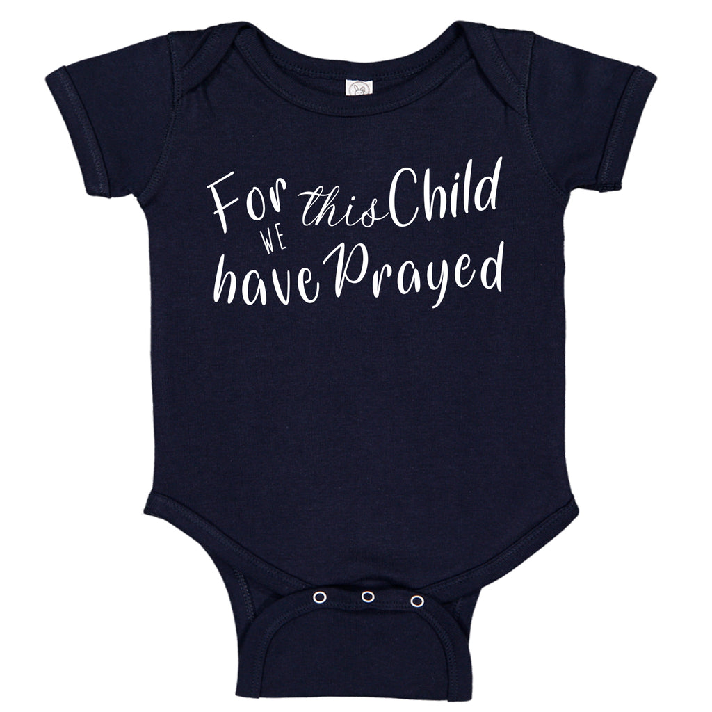 Ink Trendz® For This Child We Have Prayed Pregnancy Announcement Baby Bodysuit Romper