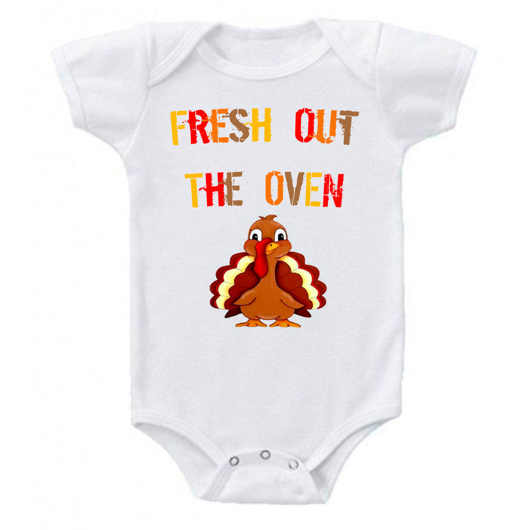 Fresh Out The Oven Turkey Baby Bodysuit Romper