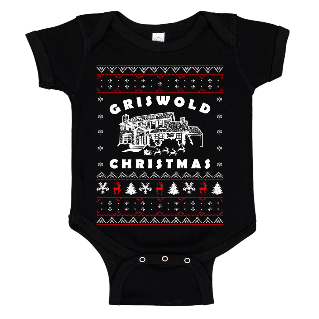 Griswald Christmas Funny Ugly Sweater Baby Bodysuit