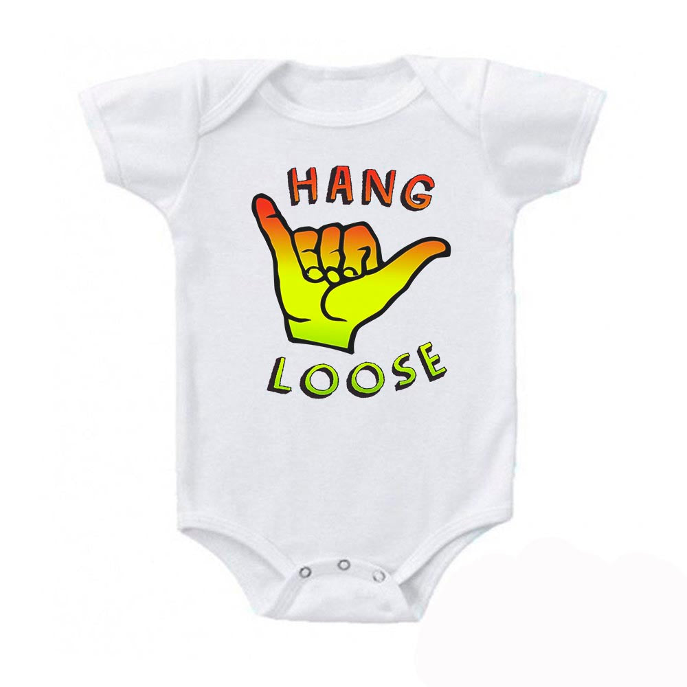 Hang Loose SHAKA Hawaii Surfing Baby Bodysuit