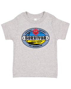 Ink Trendz® Coronavirus Survivor Outcast Outlast The Quarantine  est. 2020 Funny Covid-19 Baby Toddler Tee T-Shirt
