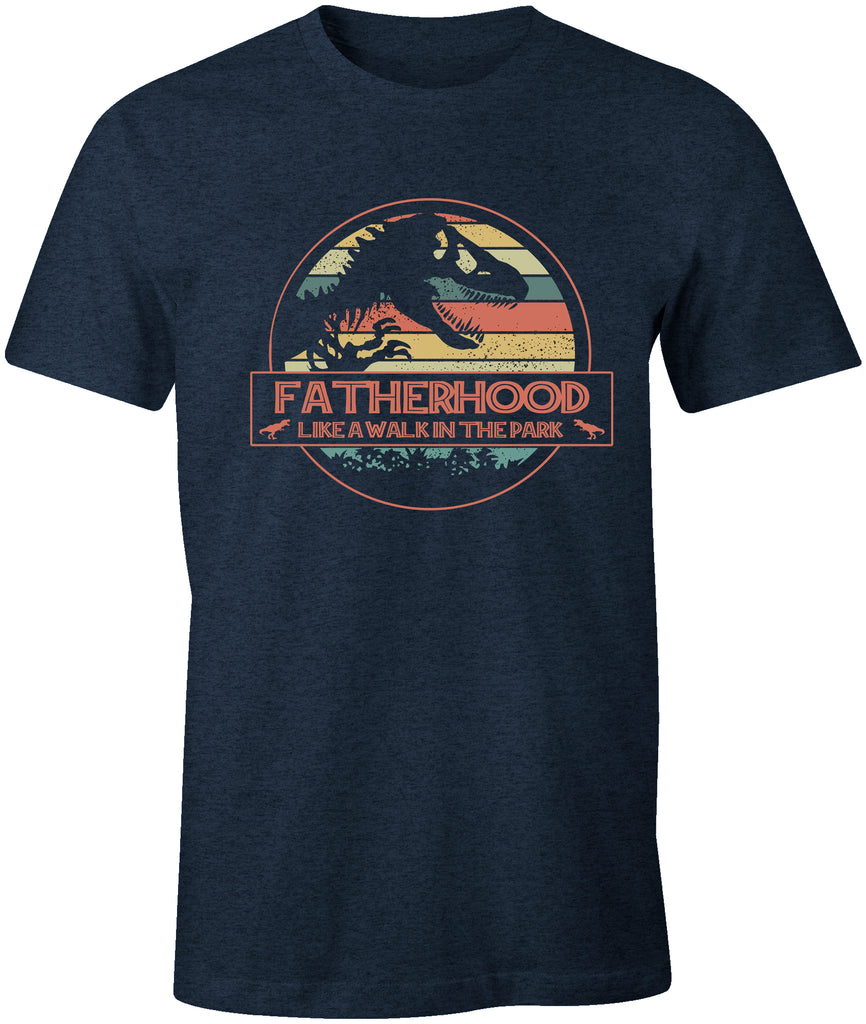 Ink Trendz® Fatherhood  LIKE A WALK IN THE PARK Jurassic Park Themed  T-Shirt, Fathers Day T-Shirt, Fathers Day Gift, Fathers Day Tee
