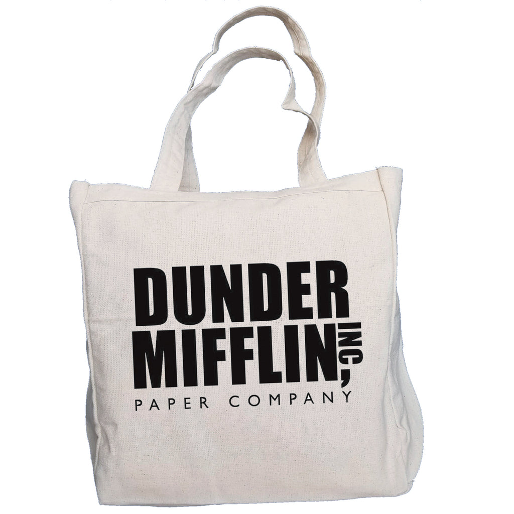 Ink Trendz® Dunder Mifflin INC. The Office 10oz. Natural Canvas Cotton Tote O-1