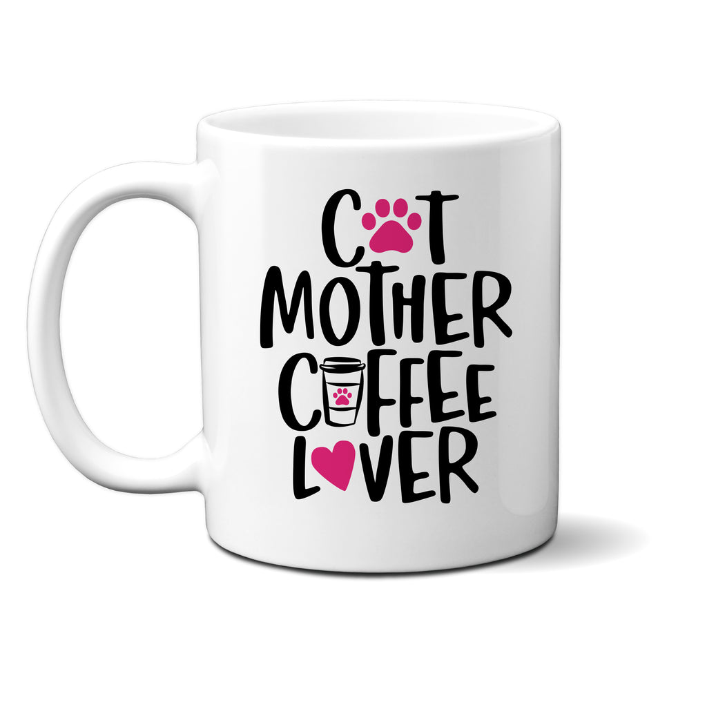 Ink Trendz® Cat Mother Coffee Lover  11 oz. Ceramic Coffee Mug, Cat Lady, Funny Cat Mug, Funny Cat Coffee Mugs, kitty mug, Cat Mom Mug