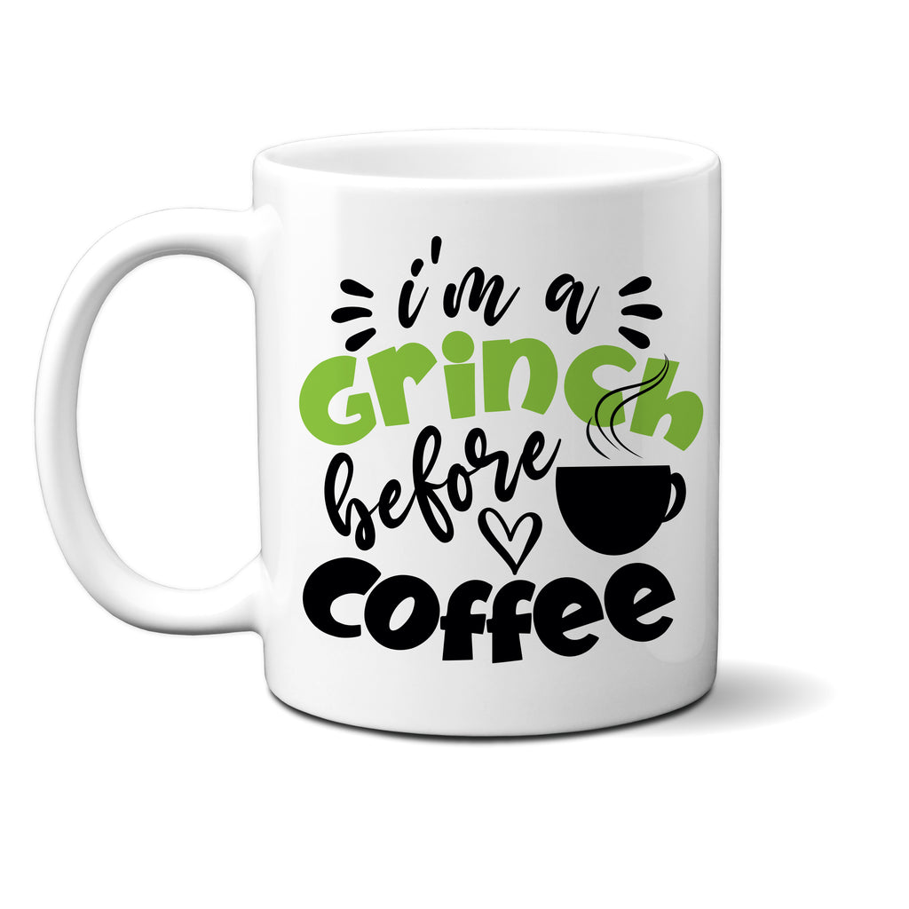 Ink Trendz® I'm A GRINCH before Coffee Funny Christmas Coffee Mug, Grinch Coffee Mug, Christmas Gift, Grinchmas, Grinch Mug