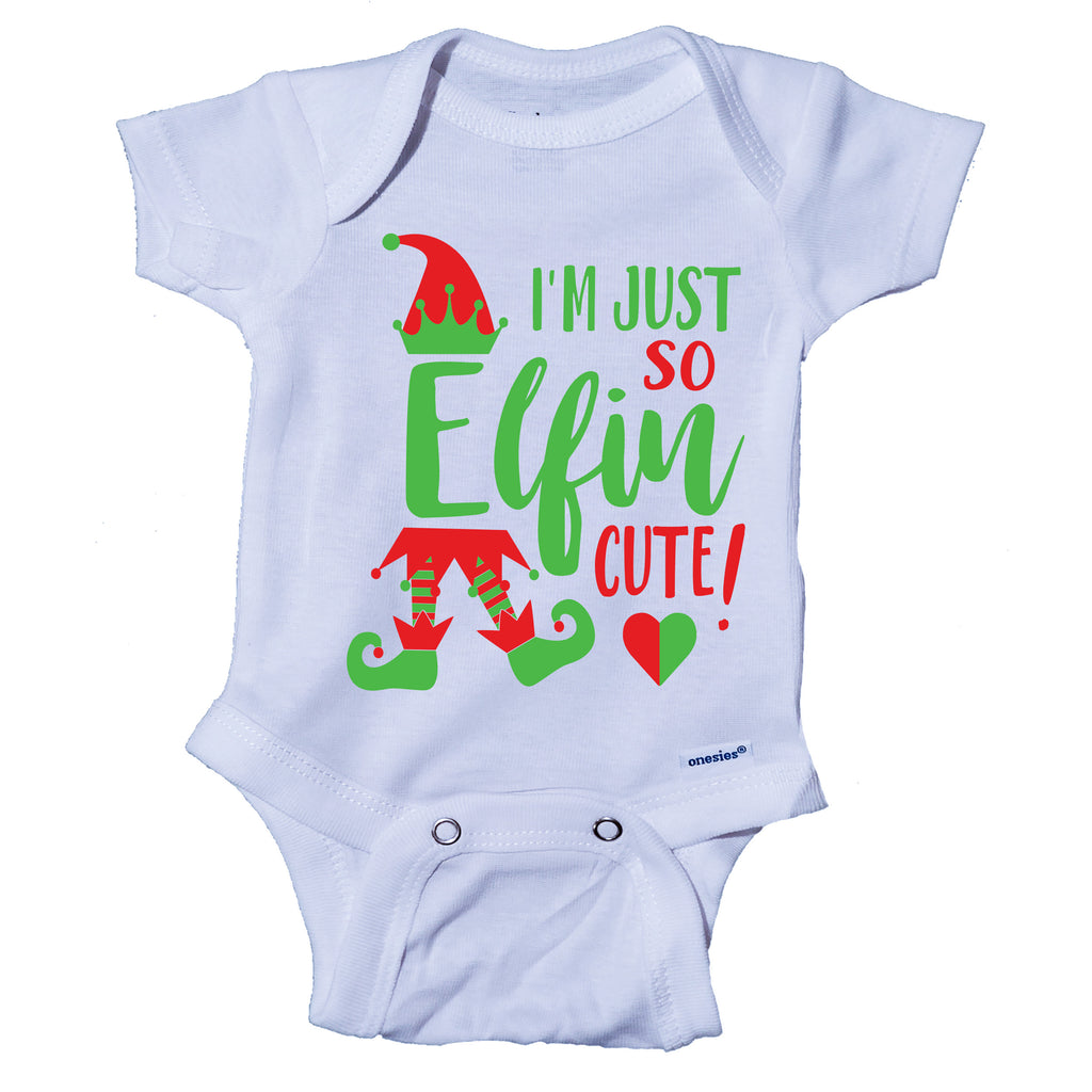 Im Just So Elfin Cute Christmas Elf Onesie® One-Piece Bodysuit- Ink Trendz
