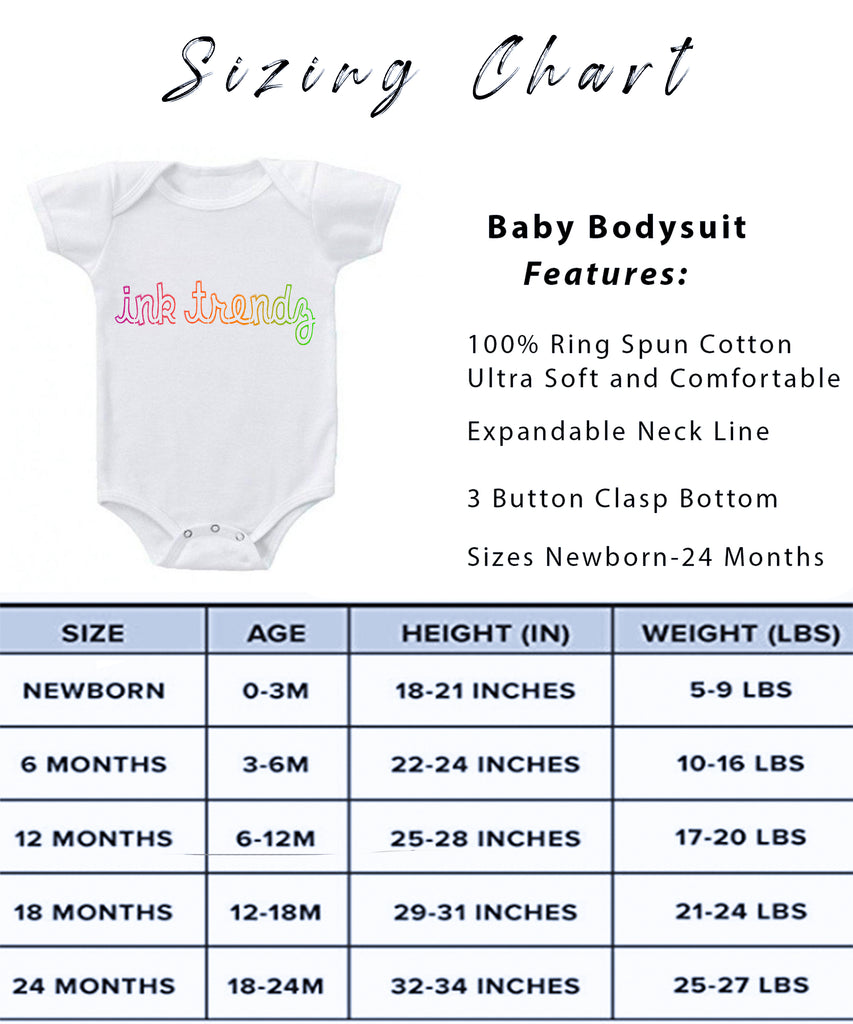 Ink Trendz® Baby Astronaut To the Moon Baby One-piece Bodysuit