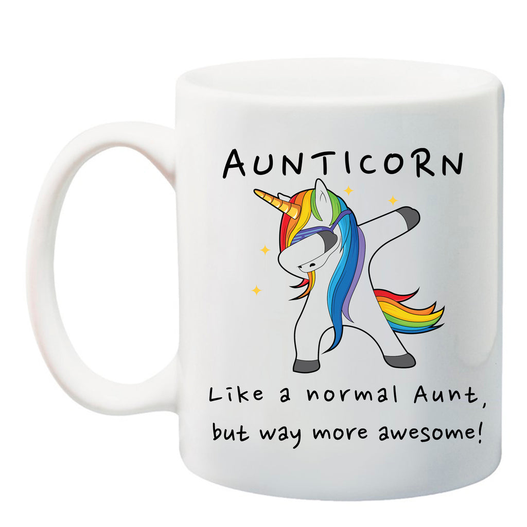 Ink Trendz® Aunticorn Unicorn Funny Aunt Gift, Aunt Announcement  11 oz. Ceramic Coffee Mug, promoted to aunt mug, promoted to aunt, Baby announcement