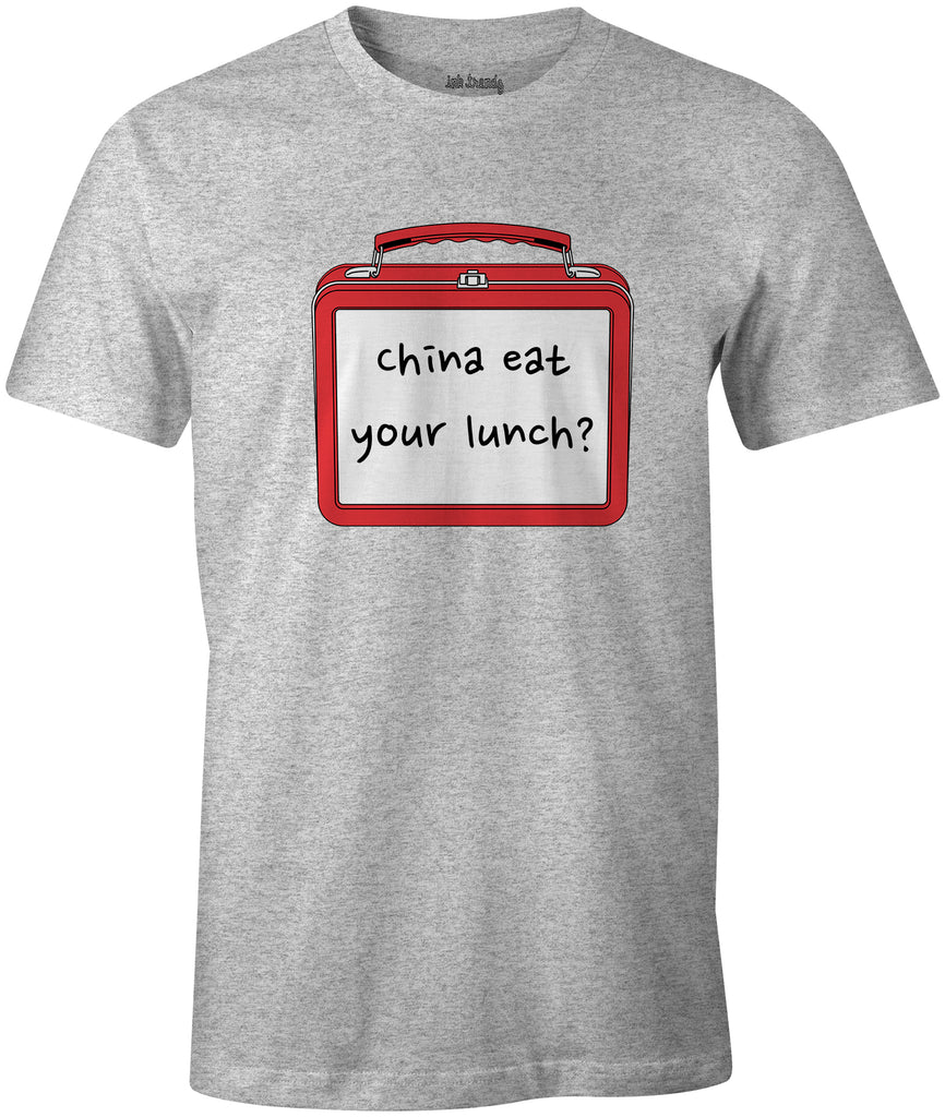 Ink Trendz® CHINA EAT YOUR LUNCH Lunchbox Political Debate 2020 T-Shirt Trump T-shirt, Maga T-shirt