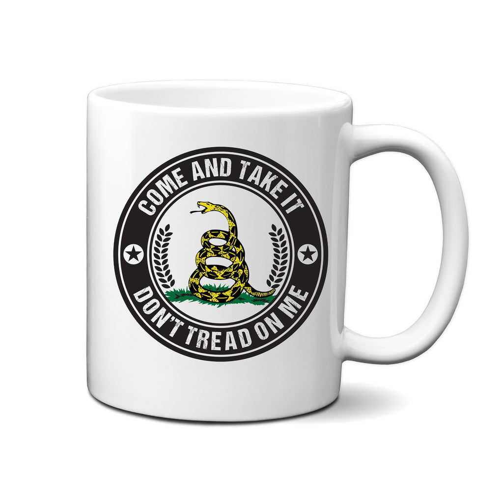 Ink Trendz® Come and Take It | Don't Tread On Me Gadsden 11 Oz. Coffee Mug Cup, Military Mugs, Military Mug, Don't Tread on me mug, Patriotic mug, fathers day Mug, Mothers day mug