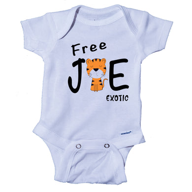 Ink Trendz® Free Joe Exotic Funny Tiger King Themed Baby Onesie®, Tiger King Netflix Documentary Onesie