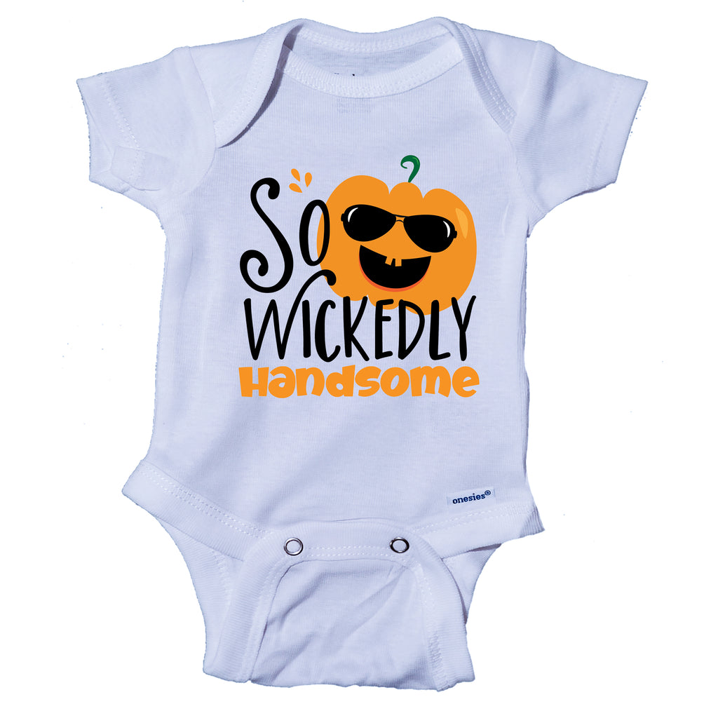 Ink Trendz So Wickedly Handsome Funny Halloween Baby Onesie® One-Piece Bodysuit