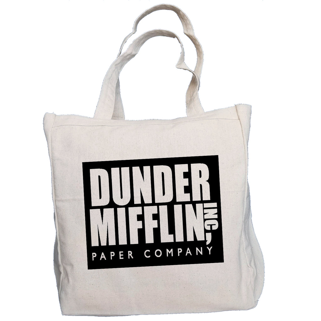 Ink Trendz® Dunder Mifflin INC. The Office 10oz. Natural Canvas Cotton Tote O-3, THe Office Tv Show, The Office Merchandise