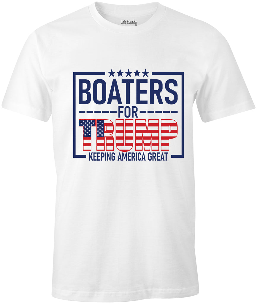 Ink Trendz® Boaters For Trump Keep America Great T-Shirt