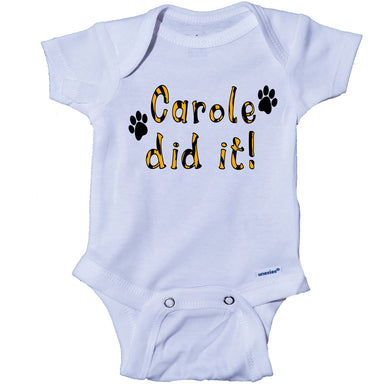 Ink Trendz® Carole Did It! Animal Print Tiger King Themed Baby Onesie®