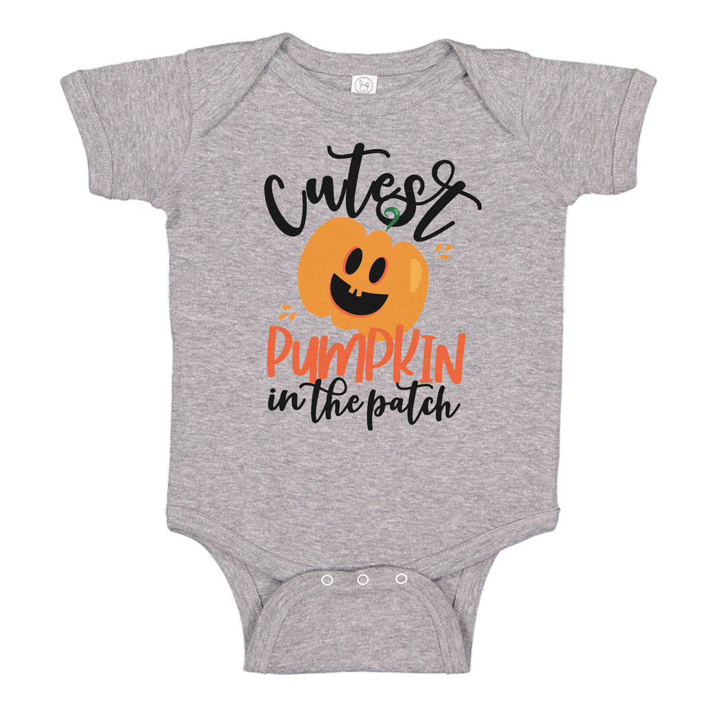 Ink Trendz® Cutest Pumpkin in the Patch Baby Halloween Baby One-piece Bodysuit Halloween onesie