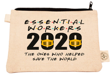 Ink Trendz®  Essential Workers 2020 Pandemic Novelty Gift Zipper Hemp Pouch Bag