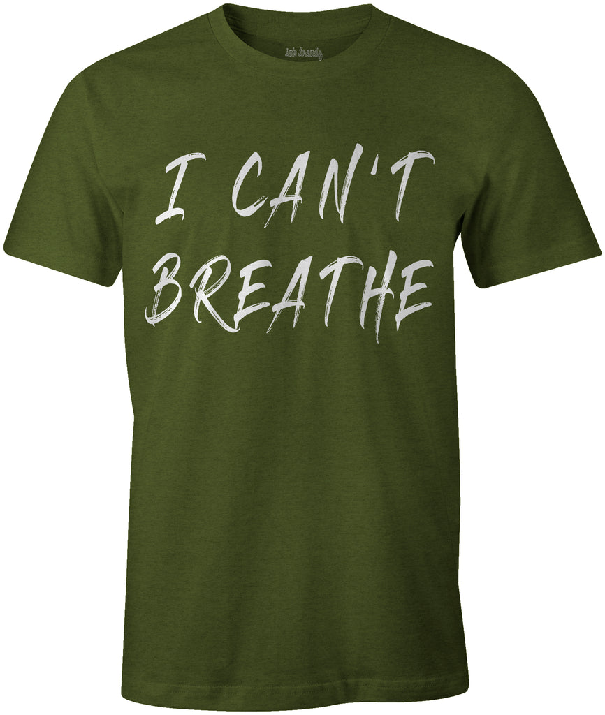 Ink Trendz® I Can't Breathe- George Floyd Social Justice Riot T-Shirt Black Lives Matter T-Shirt in Military Green Police Brutality T-shirt