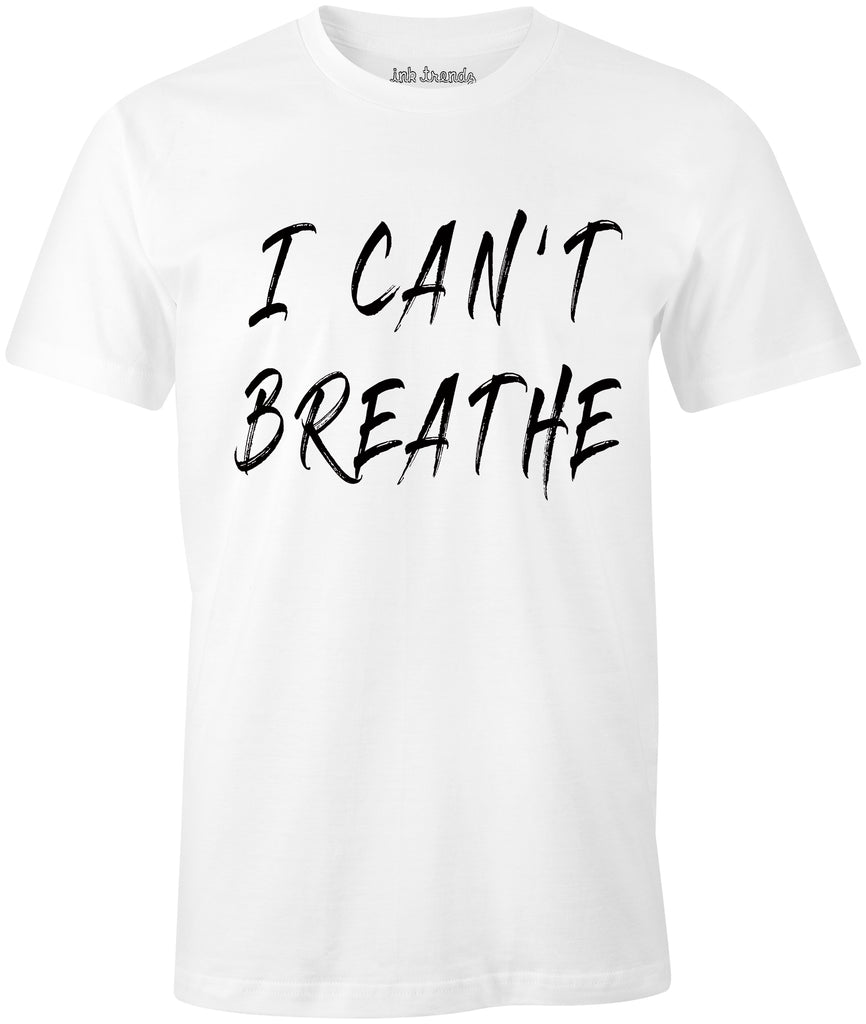 Ink Trendz® I Can't Breathe- George Floyd Social Justice Riot T-Shirt Black Lives Matter T-Shirt in White Police Brutality T-shirt