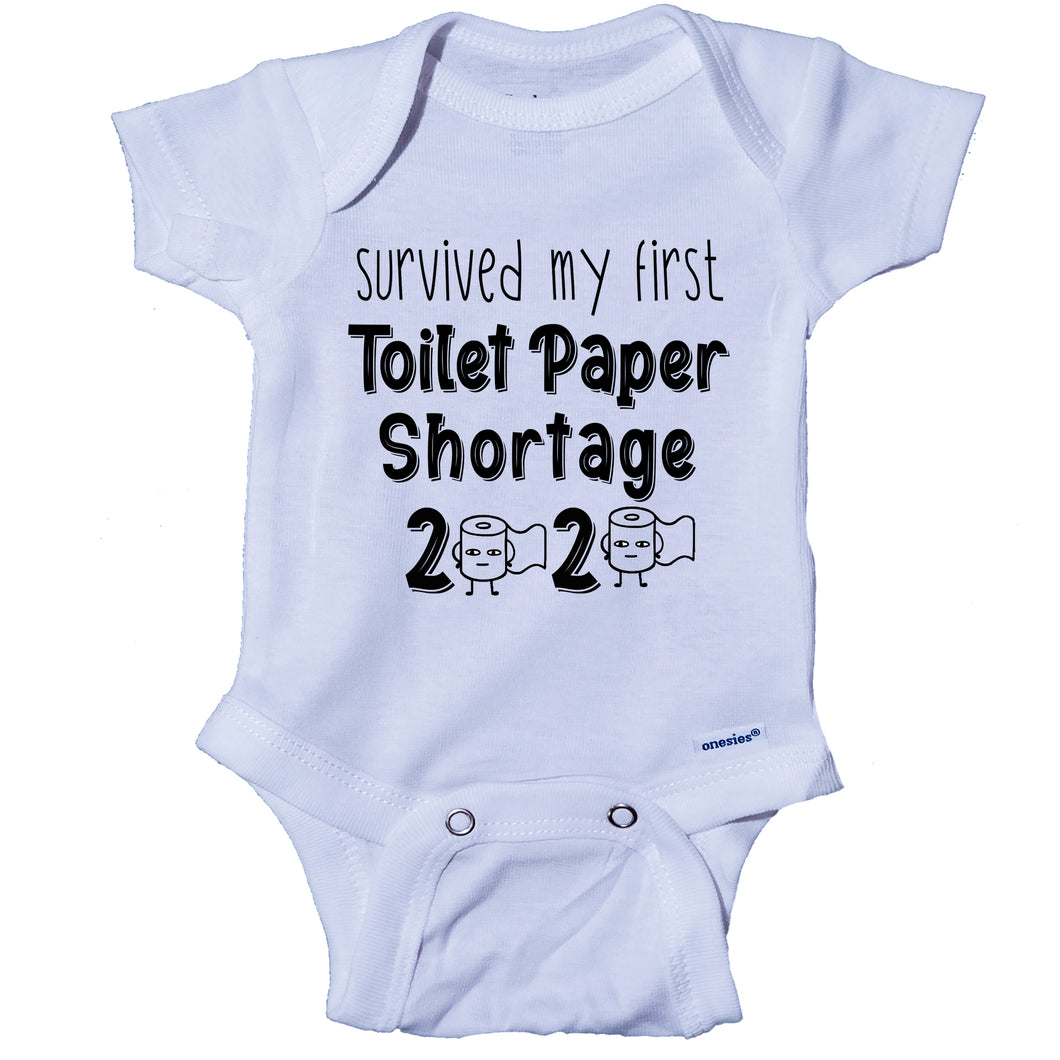Ink Trendz® Survived My First Toilet Paper Shortage Quarantine Baby Onesie®